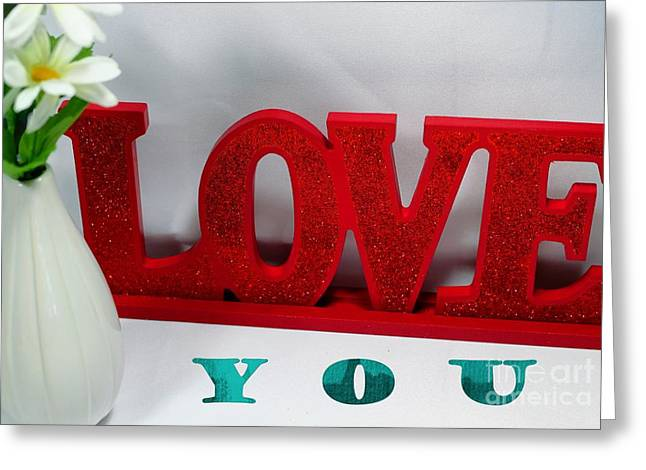 Happy Valentine's Day - Love - Forever3 Greeting Card by Barbara Griffin