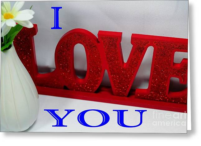 Happy Valentine's Day - Love - Forever4 Greeting Card by Barbara Griffin