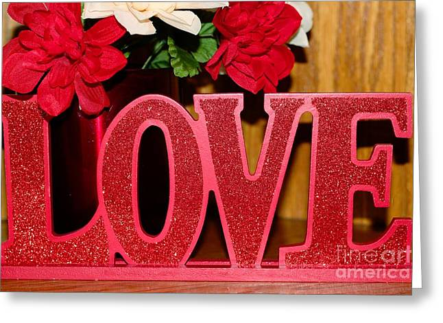 Happy Valentine's Day - Love - Forever5 Greeting Card by Barbara Griffin