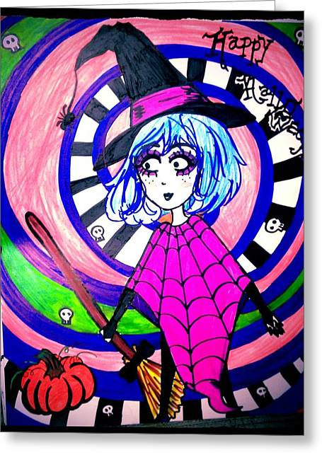 Happy Witch Greeting Card