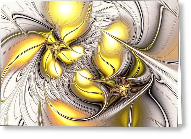 Happy Yellow Greeting Card by Anastasiya Malakhova