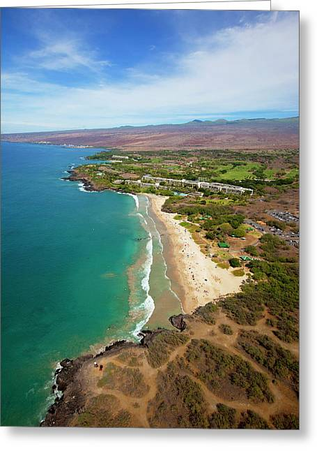 Hapuna Beach Prince Hotel, Mauna Kea Greeting Card by Douglas Peebles
