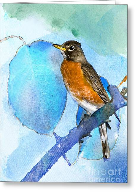 Harbinger Greeting Card by Betty LaRue