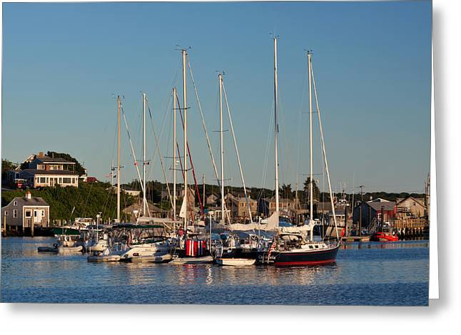 Harbor At Marthas Vineyard Greeting Card