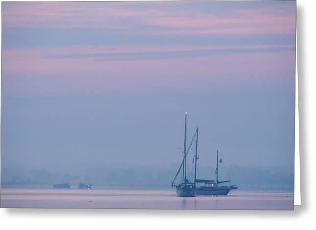 Harbor Before Dawn Greeting Card