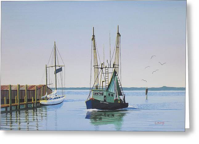 Harbor Days End Greeting Card