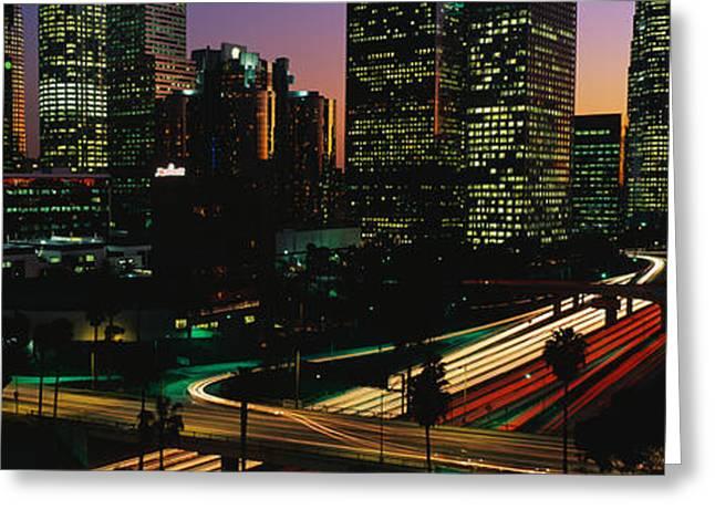 Harbor Freeway Los Angeles Ca Greeting Card