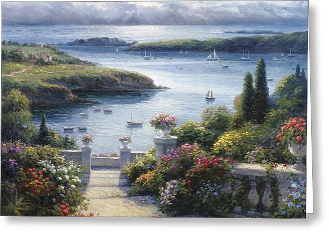 Harbor Garden Greeting Card by Ghambaro