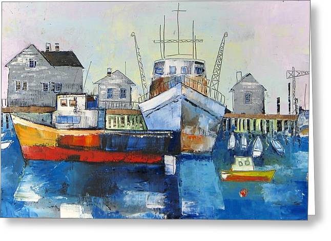 Harbor In The Maine Greeting Card
