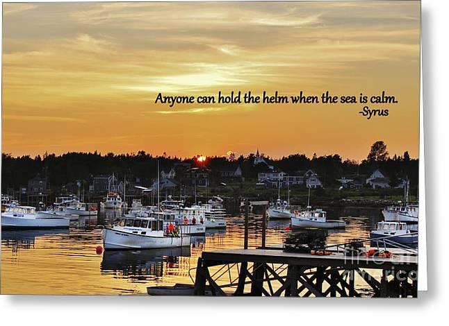 Harbor Inspiration Greeting Card