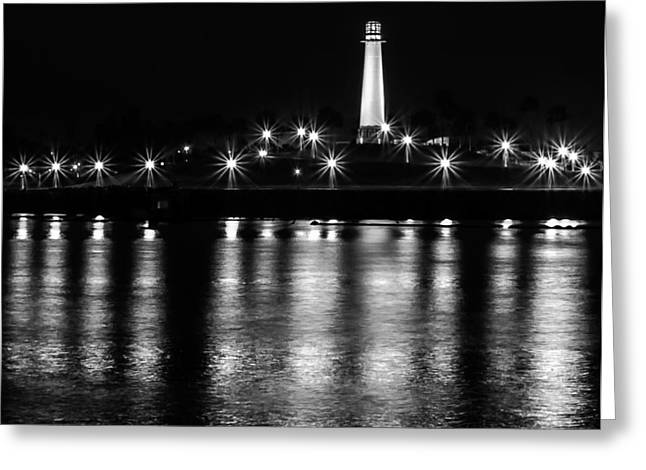Harbor Lighthouse Greeting Card by James Barber