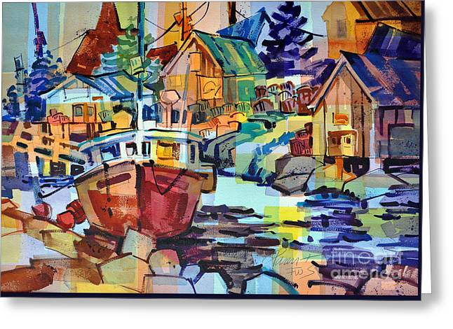 Harbor Glow Greeting Card