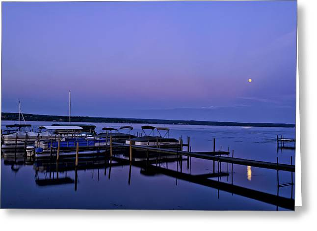 Harbor Night Greeting Card by Mark Papke