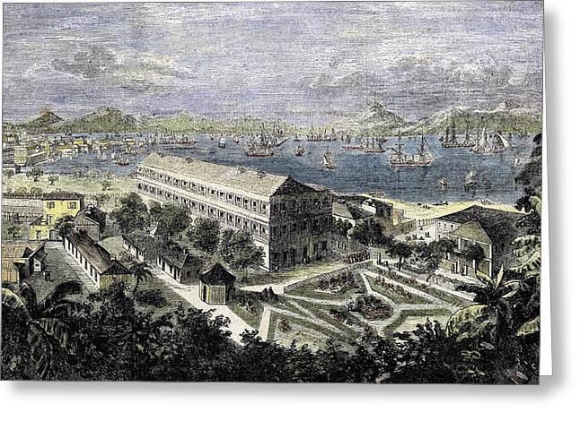 Harbor Of Hong Kong Greeting Card