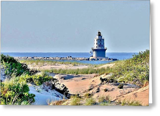 Harbor Of Refuge Lighthouse Greeting Card