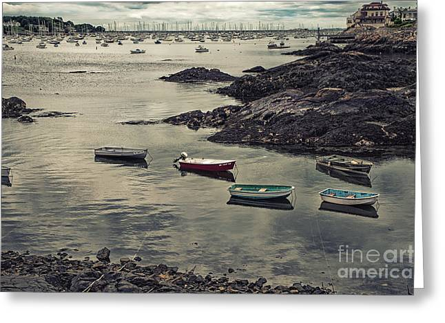Harbor On A Cloudy Day Greeting Card