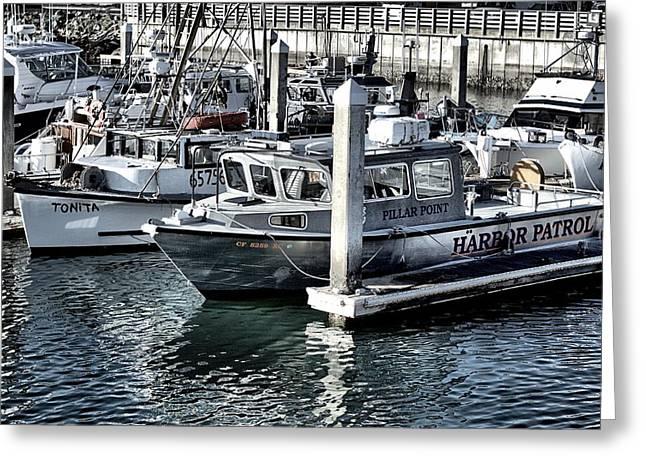 Harbor Patrol Greeting Card by Scott Hill
