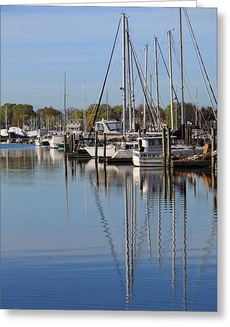 Harbor Reflections Greeting Card by Karol Livote