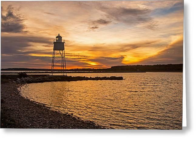 Harbor Sunrise Greeting Card