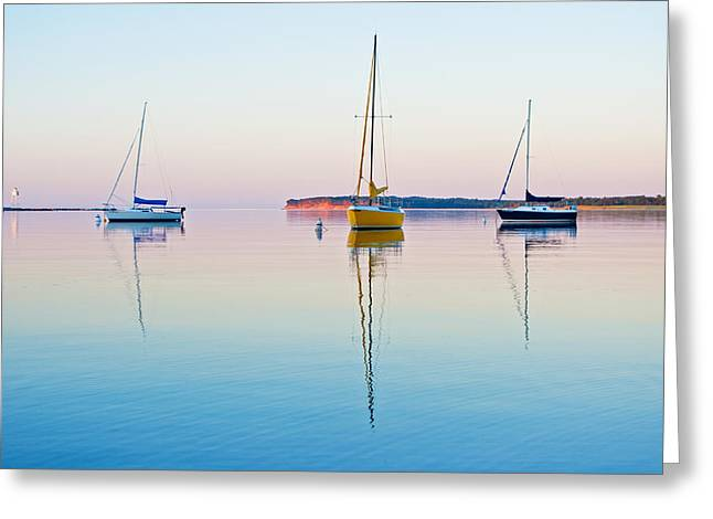 Harbor Sunset Greeting Card