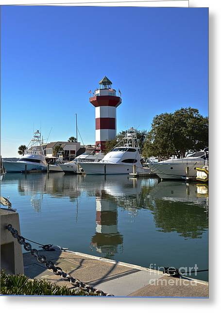 Harbor Town Lighthouse Greeting Card