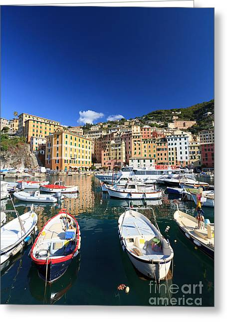 Greeting Card featuring the photograph Harbor With Fishing Boats by Antonio Scarpi