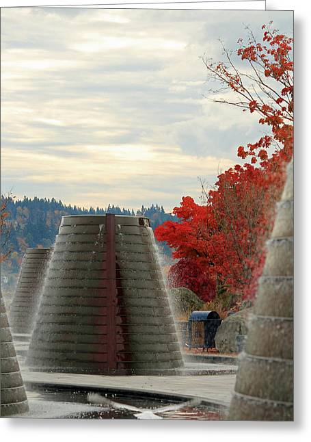 Harborside Fountain Park Greeting Card