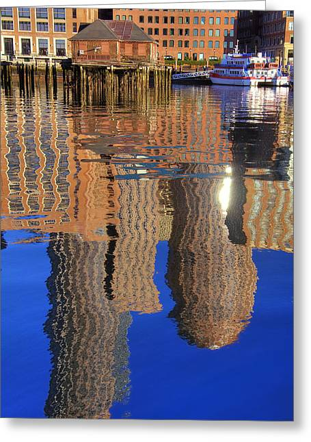 Harborside Reflections 2 Greeting Card by Joann Vitali
