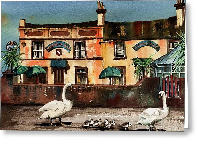 Harbour Bar,,, Bray Greeting Card