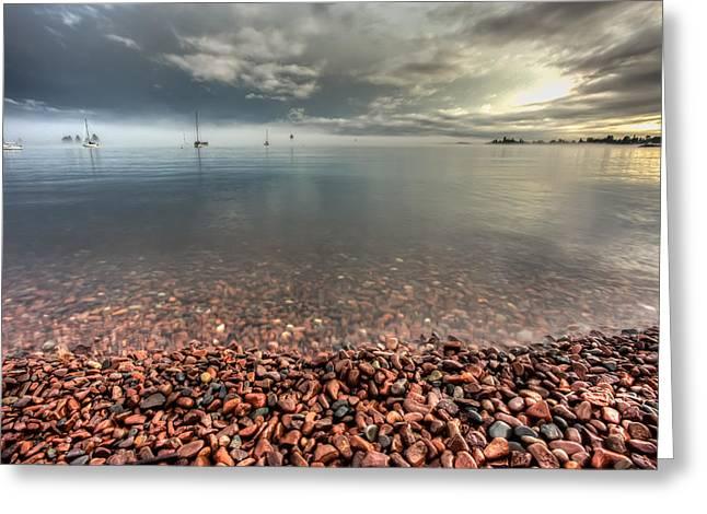 Harbour Before A Storm Greeting Card by Jakub Sisak