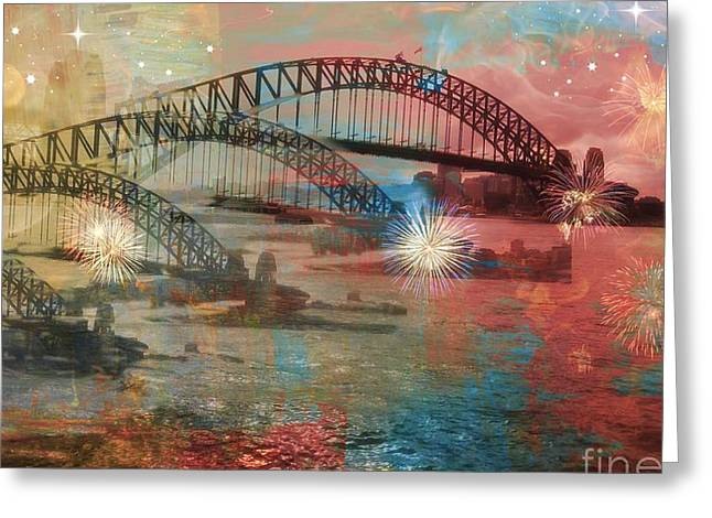 Greeting Card featuring the photograph Harbour In Abstraction by Leanne Seymour