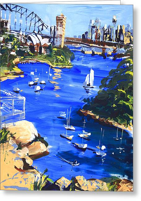 Harbour In Sun And Wind Greeting Card by Shirley  Peters