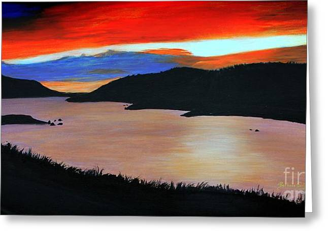 Harbour Sunset Greeting Card by Barbara Griffin