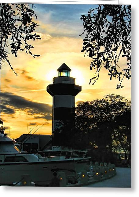 Harbour Town Lighthouse Beacon Greeting Card