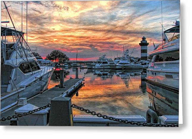 Harbour Town Yacht Basin Greeting Card
