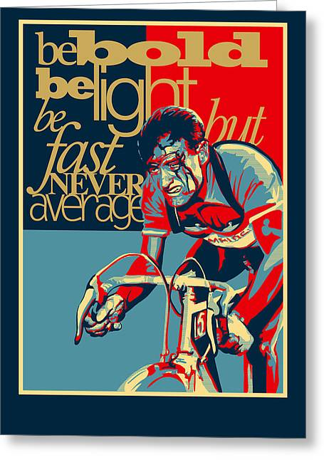 Hard As Nails Vintage Cycling Poster Greeting Card by Sassan Filsoof