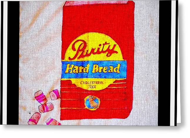 Hard Bread And Peppermint Nobs Greeting Card by Barbara Griffin