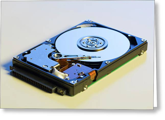 Hard Disc Drive Greeting Card by Wladimir Bulgar