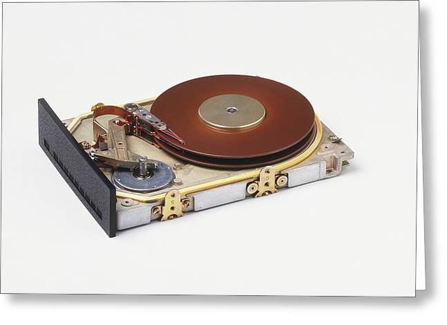 Hard Disc From A Computer Greeting Card