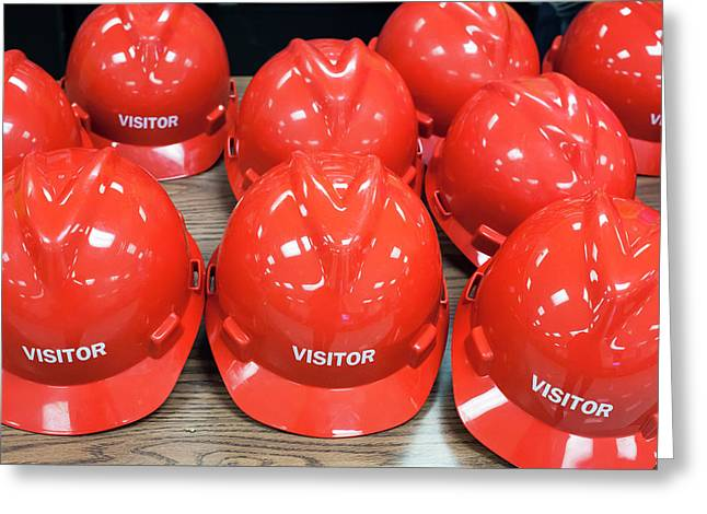 Hard Hats For Visitors Greeting Card