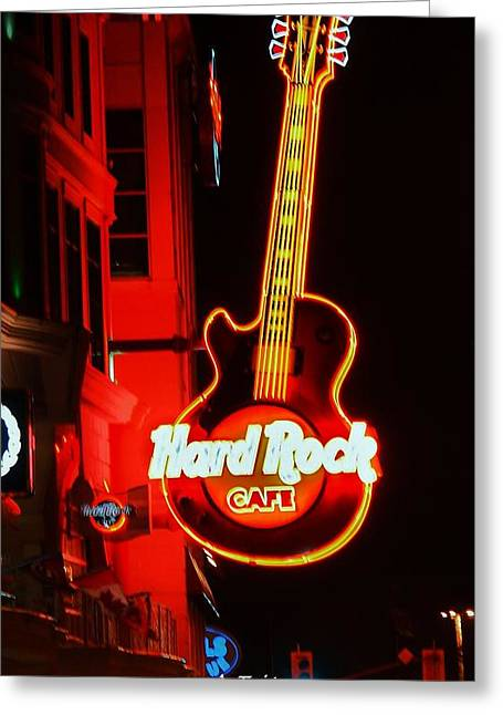 Greeting Card featuring the photograph Hard Rock Cafe' by Al Fritz