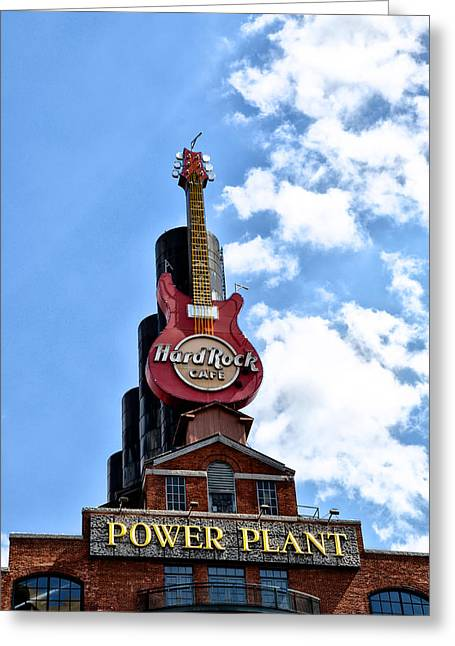 Hard Rock Cafe - Baltimore Greeting Card by Bill Cannon