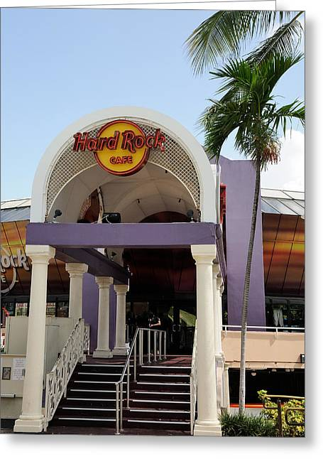 Hard Rock Cafe Miami Greeting Card