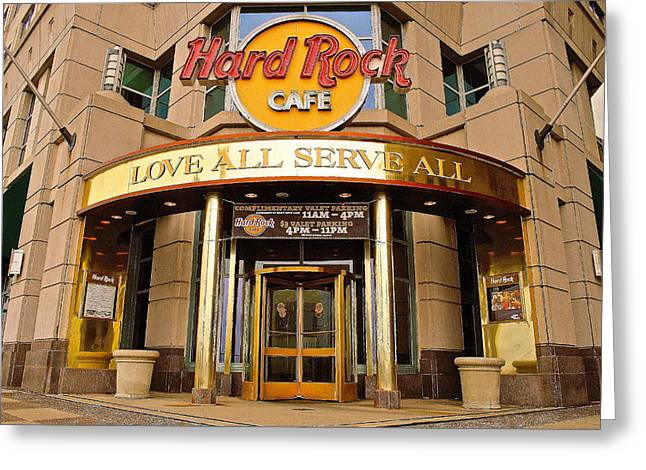 Hard Rock Cafe Greeting Card by Frozen in Time Fine Art Photography