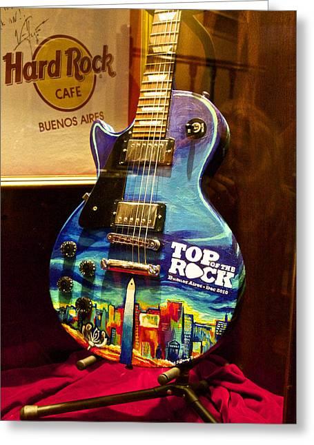 Hard Rock Electric Guitar Greeting Card