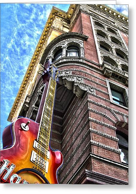 Hard Rock Phila Greeting Card by Frank Savarese