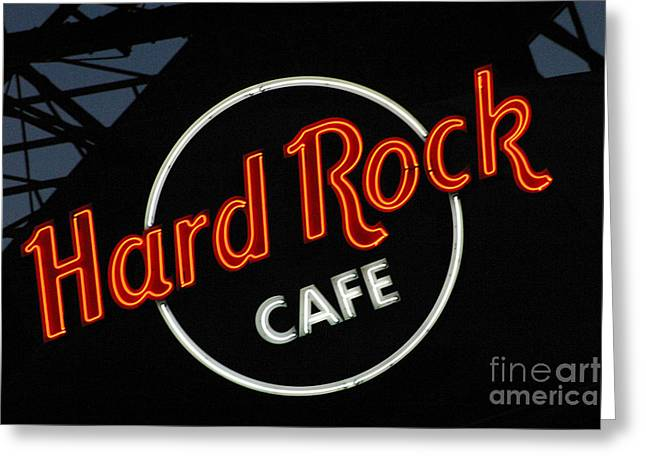 Hard Rock - St. Louis Greeting Card by Gary Gingrich Galleries