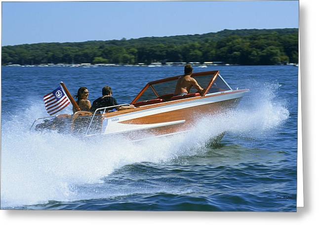 Hard Turn - Lake Geneva Wisconsin Greeting Card