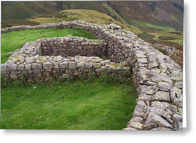 Hardknott Roman Fort Greeting Card by Mark Williamson
