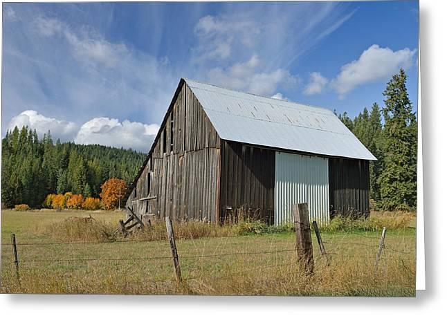 Hardy Creek Road Barn Greeting Card